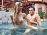 Couple fucking in the pool
