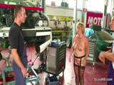 Busty woman German Milf fucking in the workshop